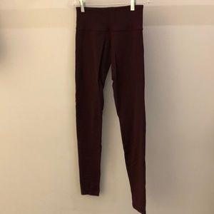 Lululemon burgundy legging, sz 4, 70859